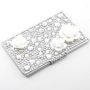 AKIMAKI デコ・カードケース ホワイトバラ