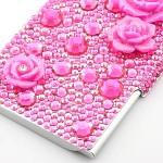 AKIMAKI デコ・カードケース ピンクバラ