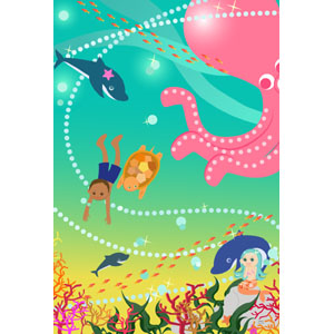 LapisCraftオリジナルポストカード「夏休みの思い出~きらめきの海」