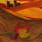 LapisCraftオリジナルポストカード「秋の森」